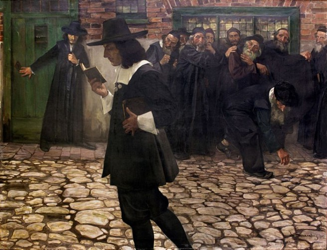 Hirszenberg_Spinoza_wyklêty_Excommunicated_Spinoza_1907